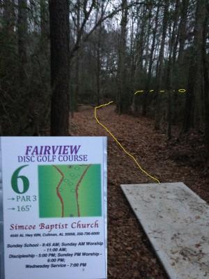 Fairview Park, Main course, Hole 6 Tee pad