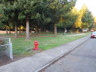 Church Park, Main course, Hole 1 Tee pad