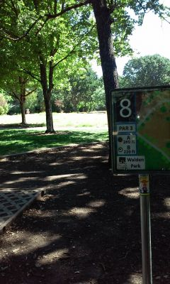Walden Park, Main course, Hole 8 Hole sign