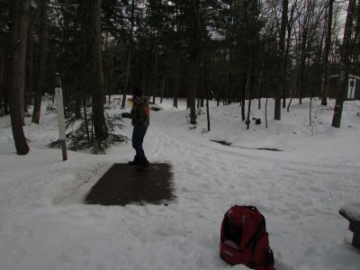 Burnsboro, Main course, Hole 4 Long tee pad