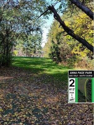 Anna Page Park, South, Hole 2 Tee pad