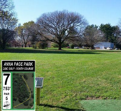Anna Page Park, South, Hole 7 Tee pad