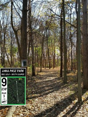Anna Page Park, South, Hole 9 Tee pad