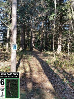 Anna Page Park, South, Hole 6 Tee pad