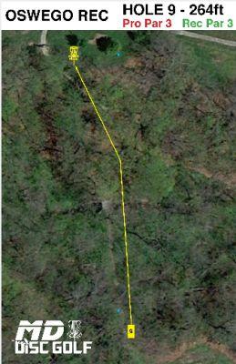 Oswego Overlook, Main course, Hole 9 Hole sign