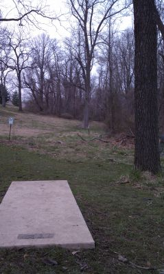 Goucher College, Main course, Hole 3 Tee pad
