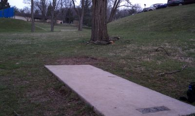 Goucher College, Main course, Hole 9 Tee pad
