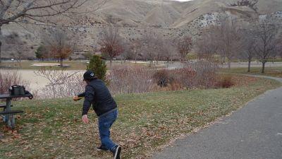 Lucky Peak State Park, Sandy Point, Hole 9 Tee pad