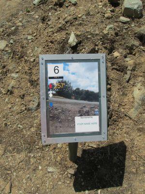 Lake Amador Resort, South course, Hole 6 Hole sign