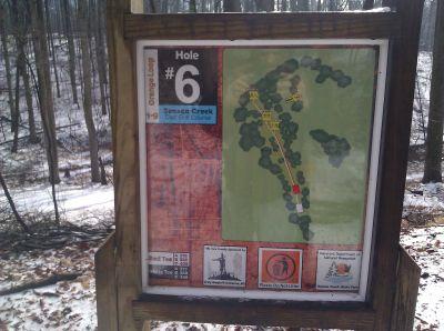 Seneca Creek State Park, Main course, Hole 6 Hole sign