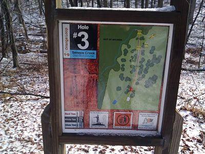 Seneca Creek State Park, Main course, Hole 3 Hole sign