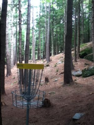 Otter Brook State Park, Main course, Hole 9 Reverse (back up the fairway)
