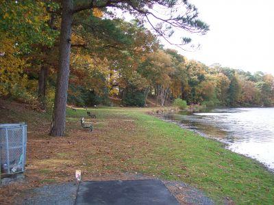 Schumaker Pond, Main course, Hole 3 Short tee pad