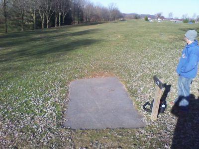 Heritage Farm Park, Main course, Hole 18 Tee pad