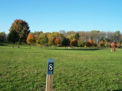 Woodsboro Regional Park, Main course, Hole 8 Long tee pad