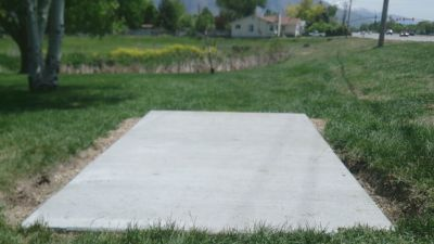 Harrisville City Park, Main course, Hole 7 Tee pad