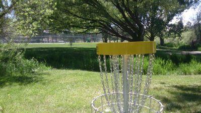 Harrisville City Park, Main course, Hole 9 Alternate pin (reverse)