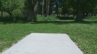 Harrisville City Park, Main course, Hole 8 Tee pad