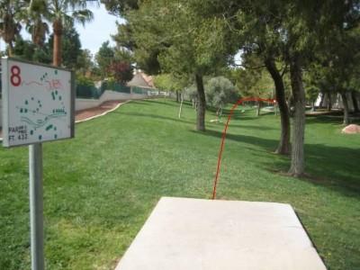 Peccole Ranch, Main course, Hole 8 Tee pad