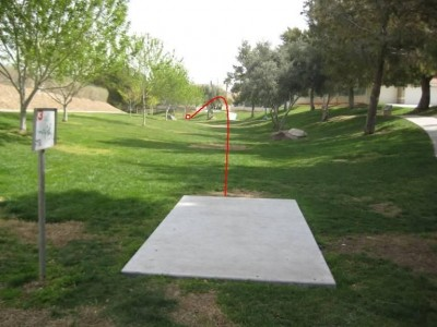 Peccole Ranch, Main course, Hole 13 Tee pad