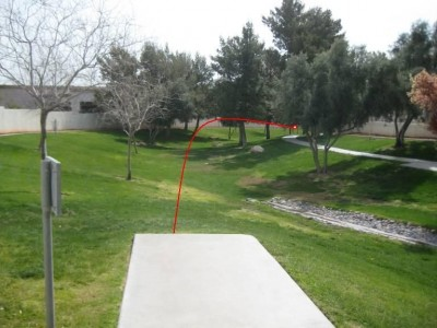 Peccole Ranch, Main course, Hole 9 Tee pad