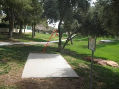 Peccole Ranch, Main course, Hole 11 Tee pad