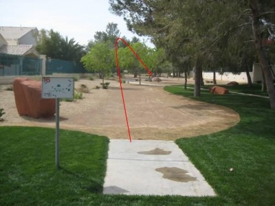 Peccole Ranch, Main course, Hole 16 Tee pad