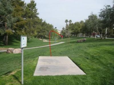 Peccole Ranch, Main course, Hole 2 Tee pad