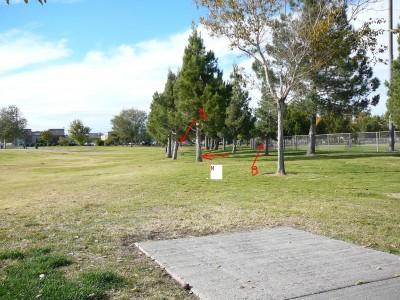Sunset Park, Main course, Hole 22 Tee pad