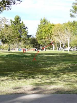 Sunset Park, Main course, Hole 24 Tee pad
