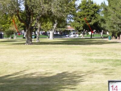 Sunset Park, Main course, Hole 14 Tee pad