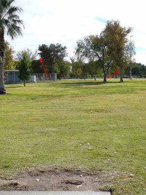 Sunset Park, Main course, Hole 12 Tee pad