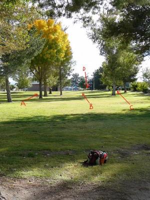 Sunset Park, Main course, Hole 20 Tee pad