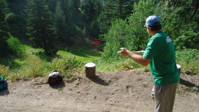 Bogus Basin, Simplot Lodge, Hole 9 Tee pad