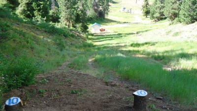 Bogus Basin, Simplot Lodge, Hole 10 Tee pad