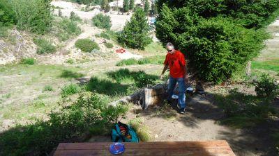 Bogus Basin, Simplot Lodge, Hole 17 Tee pad