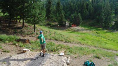 Bogus Basin, Simplot Lodge, Hole 5 Tee pad