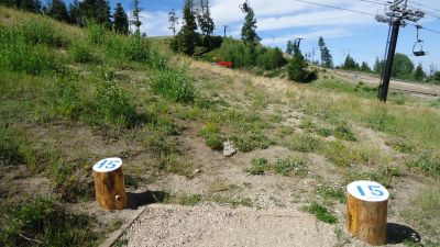 Bogus Basin, Simplot Lodge, Hole 15 Tee pad