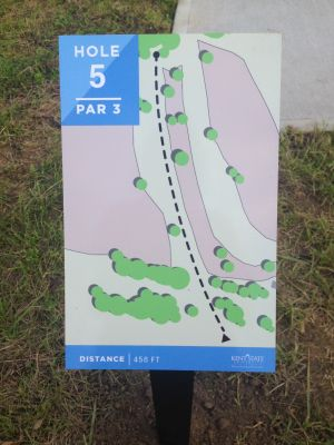 Kent State University Rec Center, Rec n' Roll, Hole 5 Hole sign