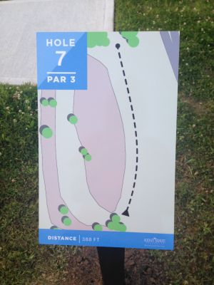 Kent State University Rec Center, Rec n' Roll, Hole 7 Hole sign