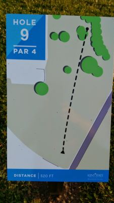 Kent State University Rec Center, Rec n' Roll, Hole 9 Hole sign