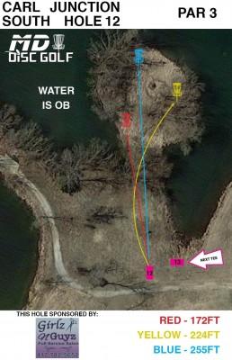 Lakeside Park, Main course, Hole 12 Hole sign