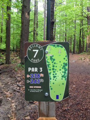 Bellamy Park, Main course, Hole 7 Hole sign