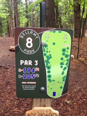 Bellamy Park, Main course, Hole 8 Hole sign