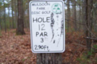 Muldoon Park, Main course, Hole 12 Hole sign