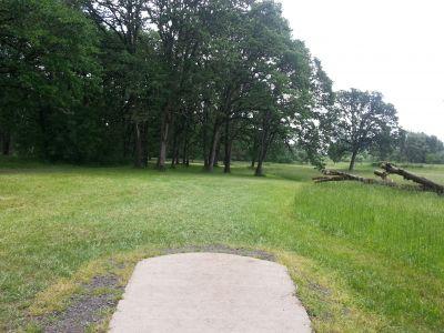 Champoeg State Park, Old Oak Grove, Hole 8 Tee pad