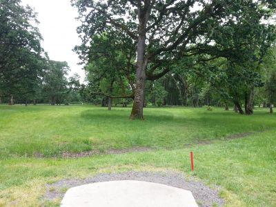 Champoeg State Park, Old Oak Grove, Hole 17 Tee pad