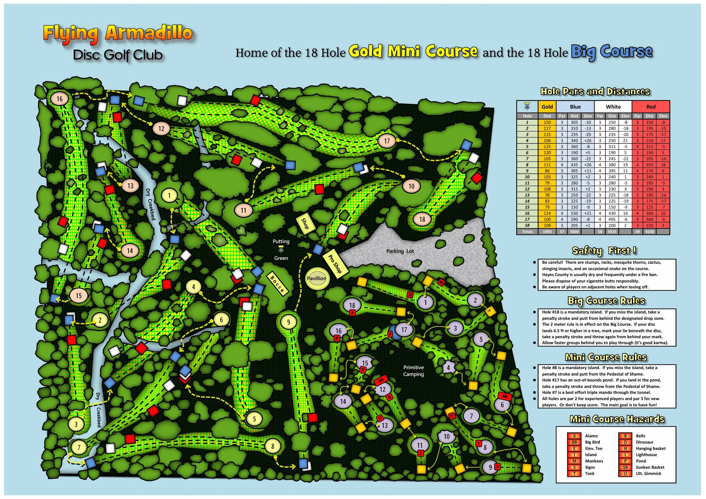 Hole 2 Flying Armadillo Dgc San Marcos Tx Disc Golf