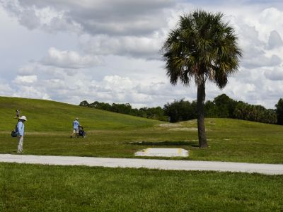 Estero DGC, Main course, Hole 14 Middle tee pad