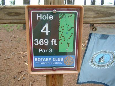 Frank Liske Park, Main course, Hole 4 Hole sign